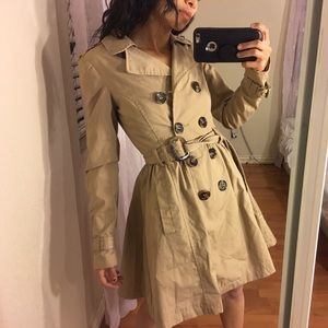H&M Fitted Tan Trench Coat